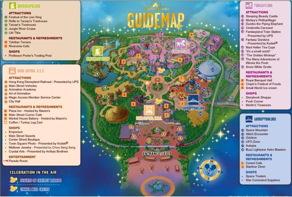 Disney Map 17 Oct