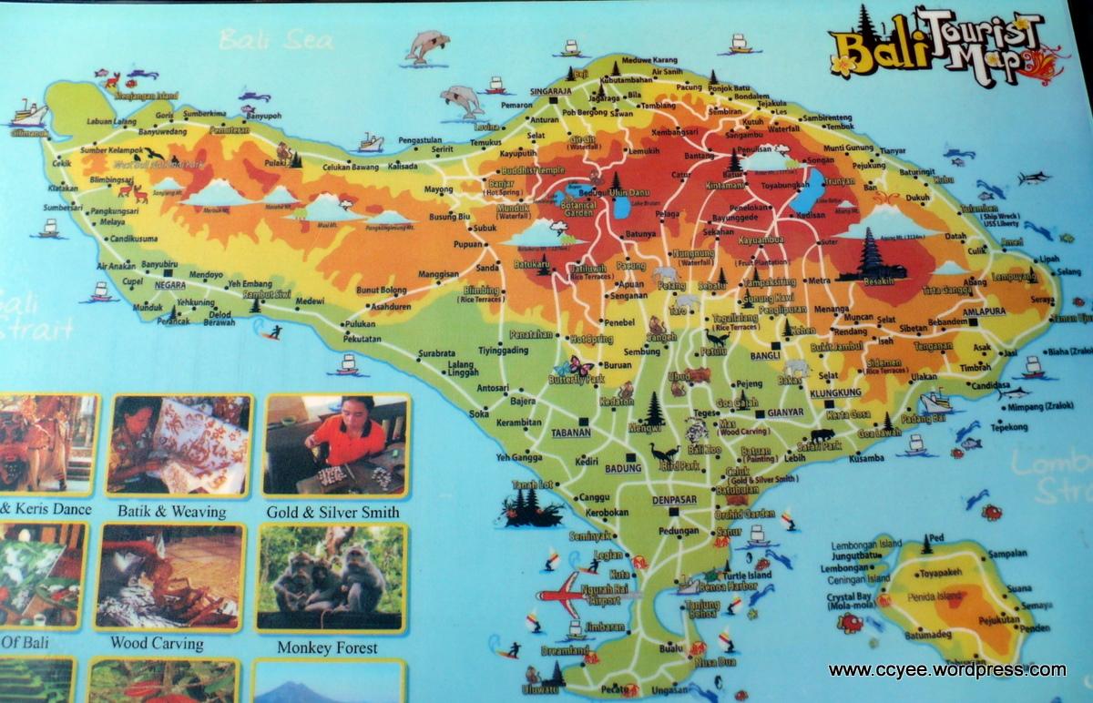 Map Ubud Bali Along With Gili Trawangan Beaches Moreover Indonesia