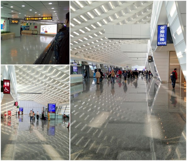 how to go from taipei airport to bullet train station