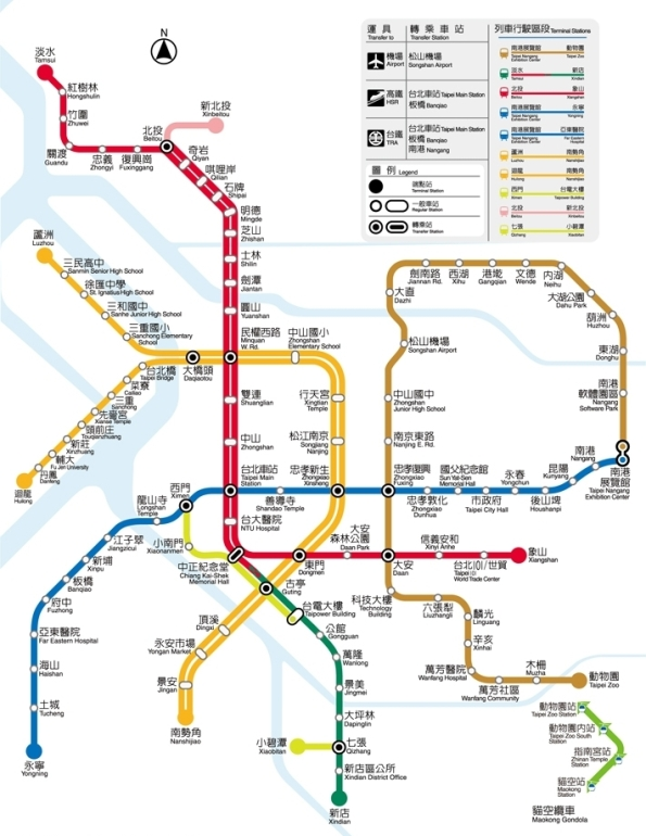 Taipei MRT Map